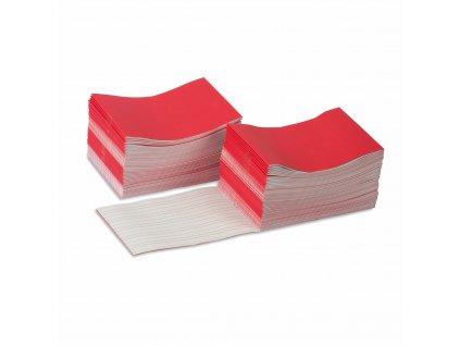 Sešitky na psaní, červené, velké, 100 ks