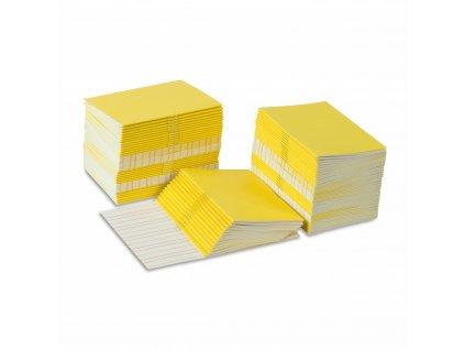 Sešitky na psaní, žluté, malé, 100 ks