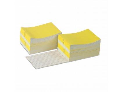 Sešitky na psaní, žluté, velké, 100 ks