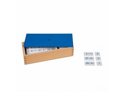 Krabička s příklady k dělení