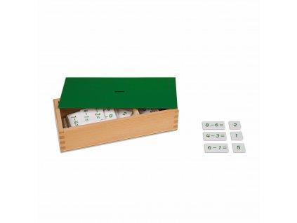 Krabička s příklady ke odčítání