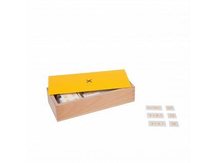 Krabička s příklady k násobení