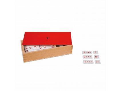 Krabička s příklady ke sčítání