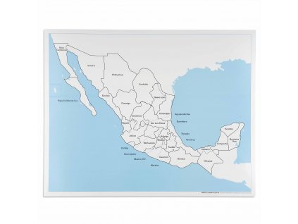 Kontrolní mapa Mexika