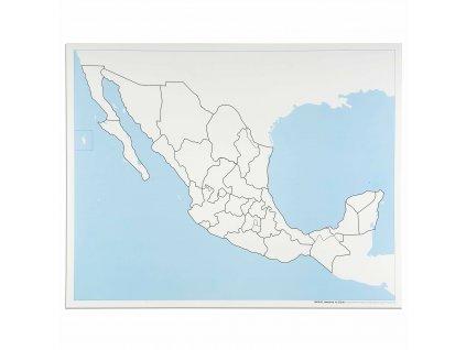 Kontrolní slepá mapa Mexika
