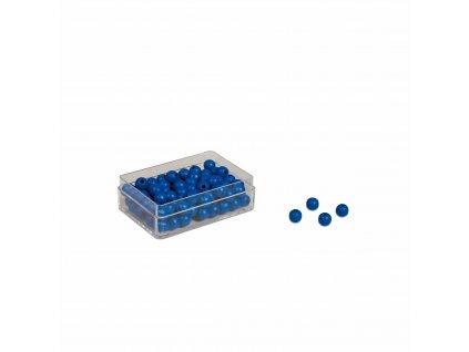 100 ks modrých korálků – náhradní díl Velkého dělení
