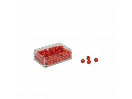 100 ks červených korálků – náhradní díl Velkého dělení