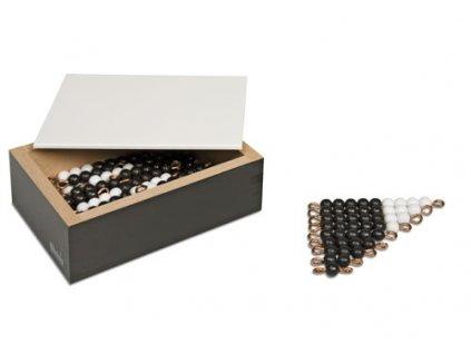 Černo-bílé korálkové schody (5 x sada) – umělé korálky volné