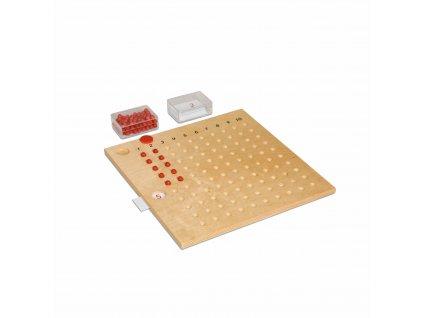 Dřevěná tabulka k násobení