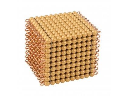 Zlatý perlový materiál – tisíc – umělé perličky volné