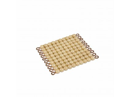Zlatý perlový materiál – stovka – skleněné perličky volné