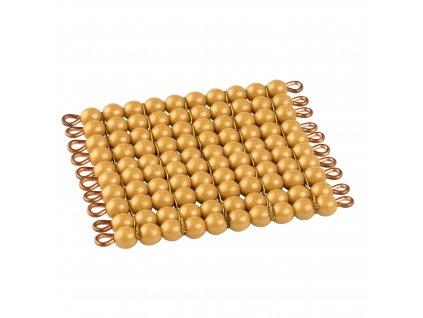 Zlatý perlový materiál – stovka – umělé perličky volné