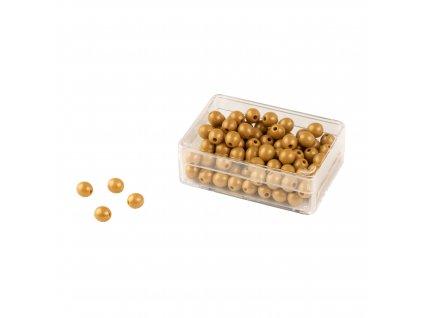 100 zlatých perel – umělé perličky samostatné, s dírkami