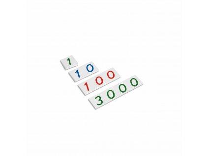 Malé plastové karty s čísly od 1 do 3000
