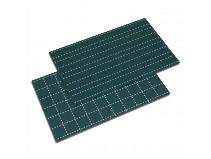 Zelená tabule, dvojité linky/čtverečky 2ks