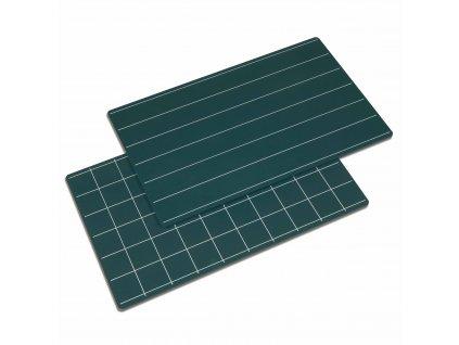 Zelená tabule, linky/čtverečky 2ks