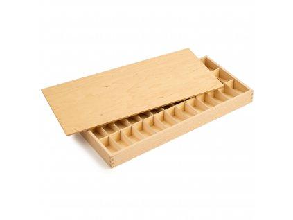Box na ukládání tištěných psacích písmen abecedy