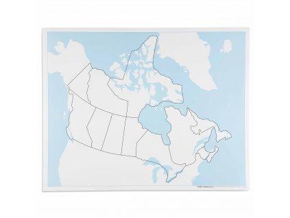 Kontrolní slepá mapa Kanady