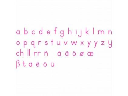 Malá pohyblivá abeceda, tiskací červená písmena
