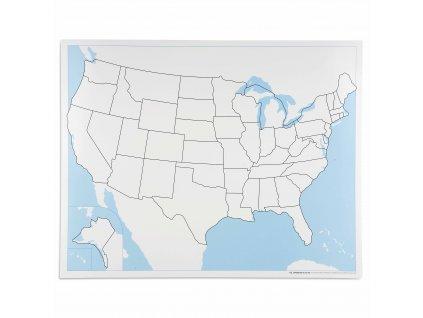 Kontrolní slepá mapa USA