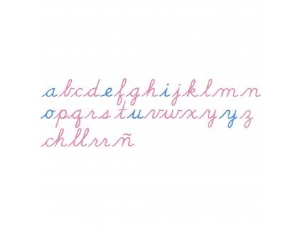 Velká pohyblivá abeceda, psací písmo