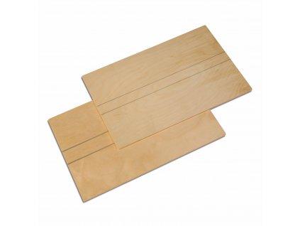 Dřevěné tabule pro Velkou a Střední pohyblivou abecedu, 2 ks