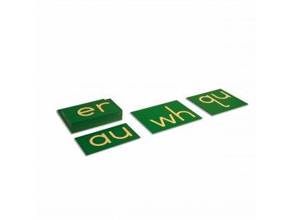Hmatová písmena – anglické dvojhlásky, tiskací písmo