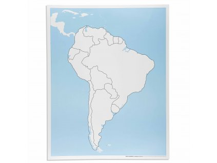 Kontrolní slepá mapa Jižní Ameriky