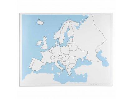 Kontrolní slepá mapa Evropy
