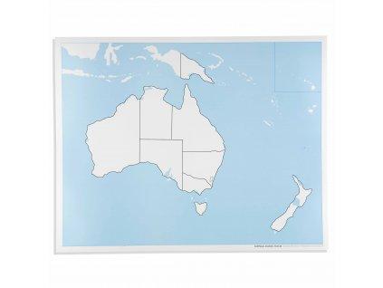 Kontrolní slepá mapa Austrálie