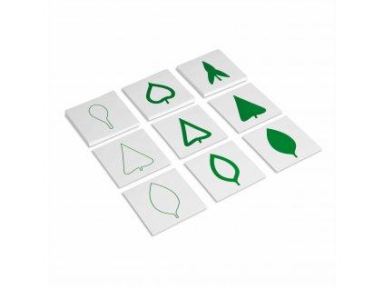 Karty s tvary listů