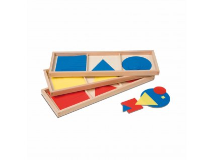 Barevné kruhy, čtverce a trojúhelníky (vrstvené tvary)