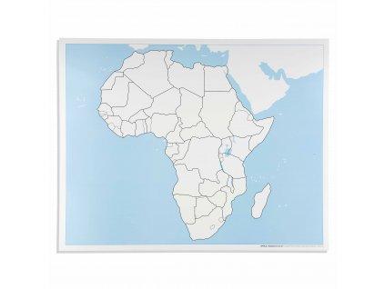 Kontrolní slepá mapa Afriky