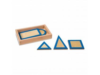 Sada průmětů ke Geometrickým tělesům, v krabičce