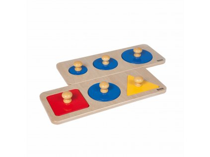 Dvě sady po 3 samostatných tvarech jako puzzle