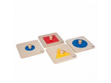 Sada 4 samostatných tvarů jako puzzle