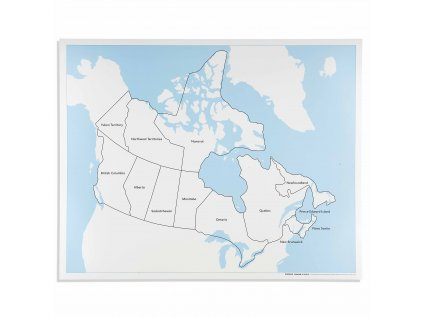 Kontrolní mapa Kanady, anglicky