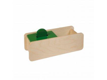 Box s překlápěcím víkem, jeden otvor