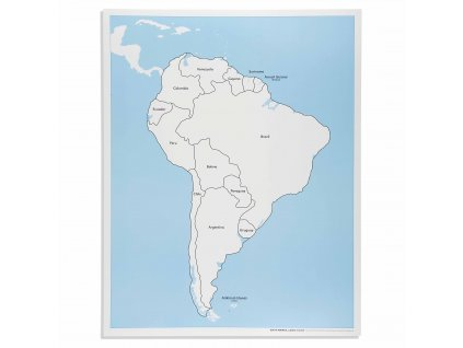 Kontrolní mapa Jižní Ameriky, anglicky