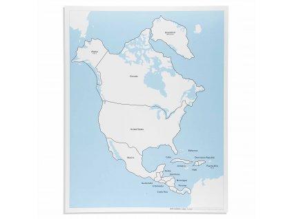 Kontrolní mapa Severní Ameriky, anglicky