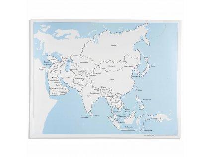 Kontrolní mapa Asie, anglicky