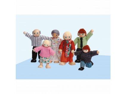 Domeček pro panenky – postavičky rodiny