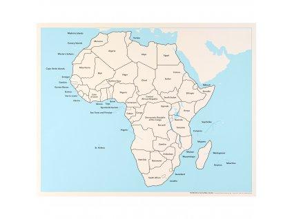 Kontrolní mapa Afriky, anglicky