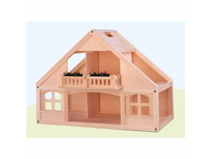 Domeček pro panenky, dřevěný