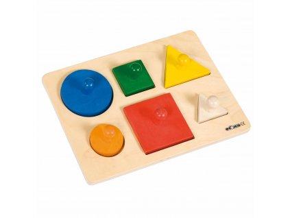 Puzzle - třídění tvarů