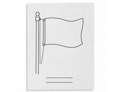 500 listů prázdných popisů vlajek