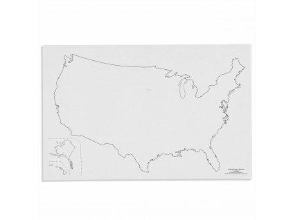 Mapa USA – slepá
