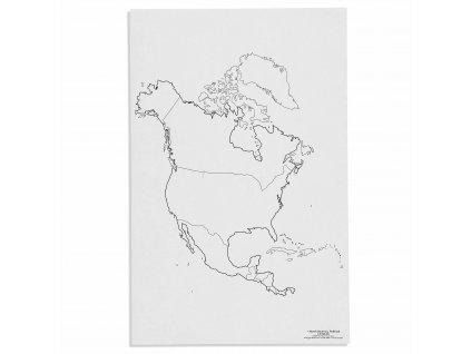 Mapa Severní Ameriky – politická, v angličtině