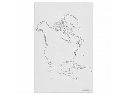 Mapa Severní Ameriky – slepá