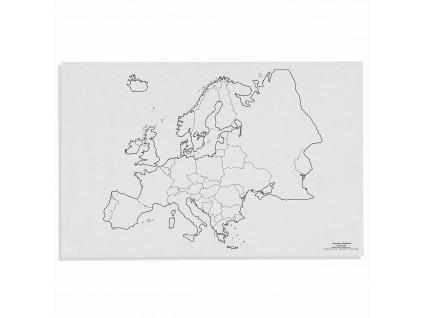 Mapa Evropy – politická, v angličtině
